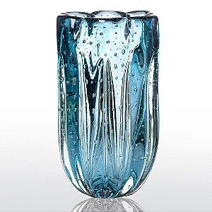 Vaso de Decoração em Murano - Aquamarine - Jelly - Tam M
