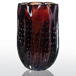 Vaso de Decoração em Murano - Marrom- Jelly - Tam G