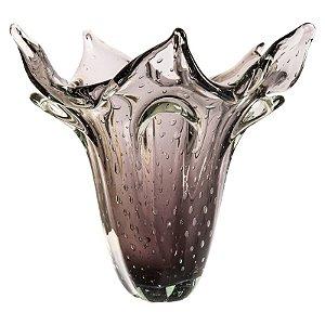 Vaso de Decoração em Murano - Ametista - Kajam - Tam GG