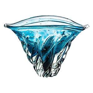 Vaso de Decoração em Murano - Aquamarine - Vita - Tam M