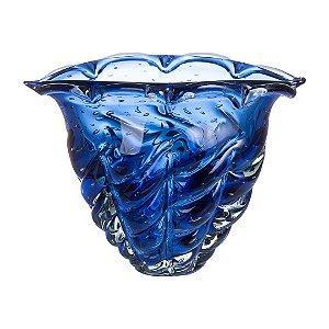 Vaso de Decoração em Murano - Safira - Vita - Tam G