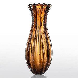 Vaso de Decoração em Murano - Marrom - Powerfull - Tam GG