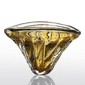 Vaso de Decoração em Murano - Ambar - Vita - Tam G