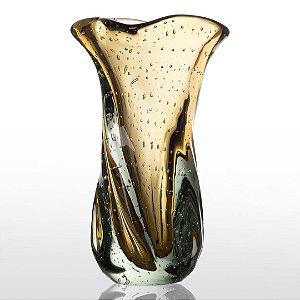 Vaso de Decoração em Murano - Ambar - Twist - Tam G