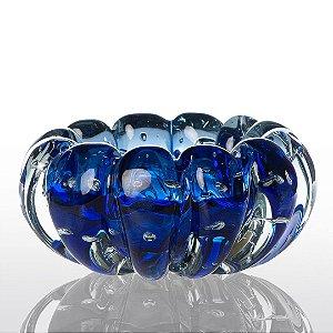 Cachepot de Decoração em Murano - Azul Safira - Téo - Tam M