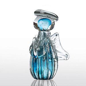 Anjo de Decoração em Murano Aquamarine Tam P - Gabriel