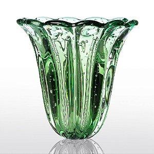 Vaso de Decoração em Murano - Verde Esmeralda - Elegance