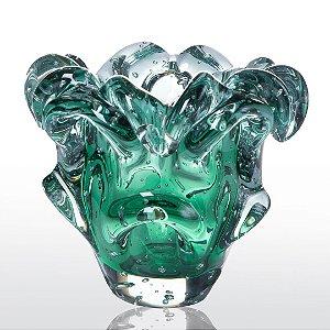 Vaso de Decoração em Murano - Verde Esmeralda - Turim