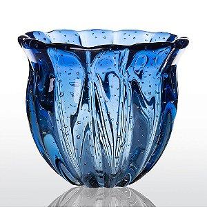 Vaso de Decoração em Murano - Azul Safira - Camponesa