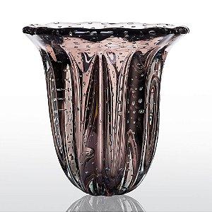 Vaso de Decoração em Murano - Vintage Rose - Elegance