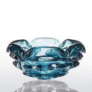 Cachepot de Decoração em Murano - Aquamarine - Escamoso