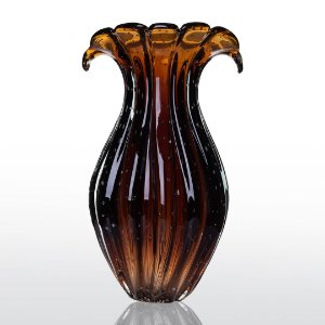 Vaso de Decoração em Murano - Marrom - Ly - Tam P