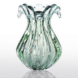 Vaso de Decoração em Murano - Verde Esmeralda - Hip - Tam Único