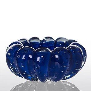 Cachepot de Decoração em Murano - Azul Escuro- Téo - Tam PP