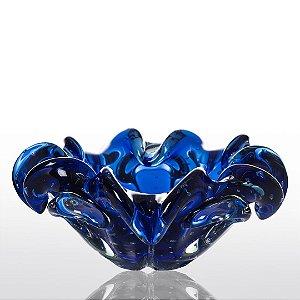 Cachepot de Decoração em Murano - Sweet - Azul Safira - G