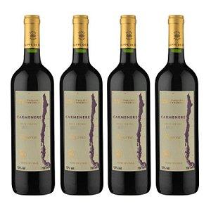 Kit 4 Vinhos Chilenos Baron Philippe de Rothschild Reserva Carménère 750ml