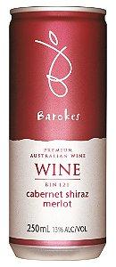 Vinho australiano em lata Barokes Tinto Cabernet Sauvignon Shiraz Merlot 250 ml