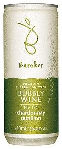 Vinho australiano em lata Barokes Branco Frisante Chardonnay Semillon 250 ml