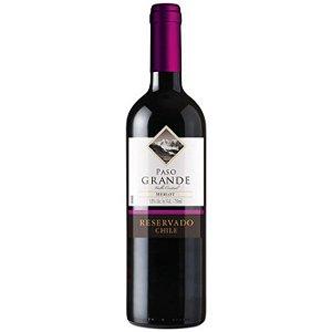 Vinho Chileno Fino Tinto Meio Seco Merlot Paso Grande Reservado 750ml