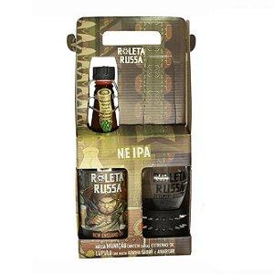 Kit Roleta Russa com 1 Cerveja New England IPA 500ml e 1 copo de 300ml com 1 Pulseira Spike