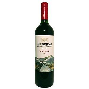 Vinho Tinto Fino Seco Reserva de los Andes Malbec 750ml