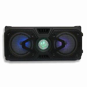 Caixa Som Amplificada 300w Bluetooth Usb Fm Sd Potente Alta Com Microfone