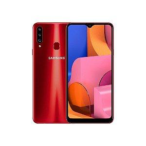 """Smartphone Samsung Galaxy A20s Vermelho 32GB, Câmera Tripla Traseira, Selfie de 8MP, Tela Infinita de 6.5"""", Leitor de Digital, Octa Core e Android 9.0"""