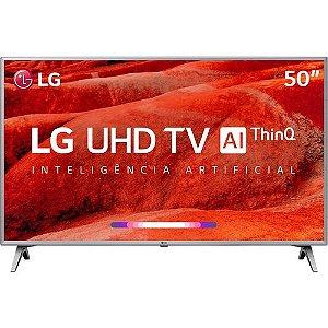 Smart TV LED 50'' LG 50UM7510 Ultra HD 4K Thinq AI Conversor Digital Integrado Wi-Fi 4 HDMI 2 USB PiP