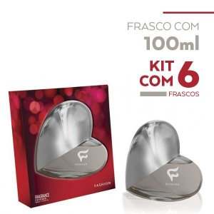 Fragrance For Women Coração Fashion 100ml - Kit com 06 Unidades