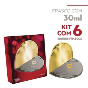 Fragrance For Women Coração Fashion 30ml - Kit com 06 unidades