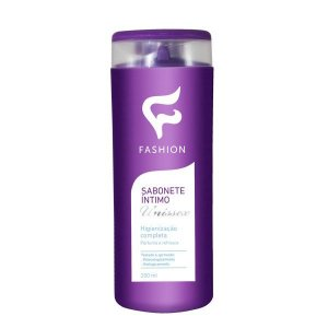Sabonete Líquido Íntimo Unissex Fashion 200ml - Kit com 06 Unidades