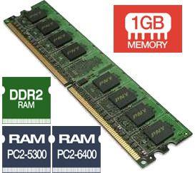 Memória RAM DDR2-667: 1GB ECC com buffer - Final: F