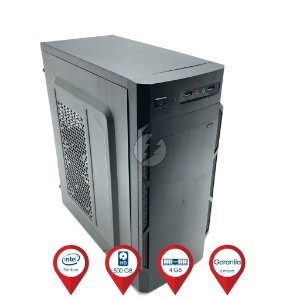 Computador Intel Dual-Core 2.6GHz + 4GB DDR3 + 500GB SATA + WIFI - Desktop NOVO