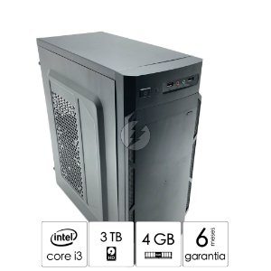 Micro Computador Intel Core i3-540 2,93GHz + 4GB DDR3 + 3 Tera HD SATA - Desktop NOVO - Excelente espaço de armazenamento - CPU i3 - Áudio com 6-channel HD Áudio Codec on-board