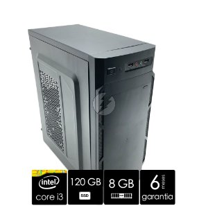 Pc Computador Intel Core i3 8GB + 120GB SSD + WiFi - NOVO - Ótimo Custo Beneficio - CPU i3 - Adaptador WiFi - Gabinete Mini Torre