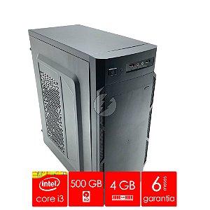Computador Intel Core i3 4GB DDR3 + 500GB HD SATA + WiFi - Desktop NOVO - Adaptador WiFi - Ótimo Custo Beneficio - CPU i3