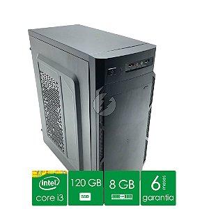 Computador Intel Core i3 8GB DDR3 + HD 500GB + 120GB SSD