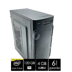 Computador Core 2 Duo 3.0GHz 4GB DDR3 + 120GB SSD - Desktop NOVO - Windows 10 Original