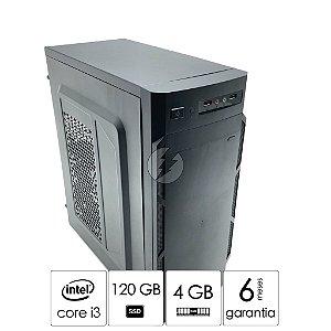 Pc Computador i3 4GB DDR3 + 120GB SSD - Desktop NOVO com Garantia - Processador Intel Core i3 - Excelente Custo Benefício - Áudio com 6-channel HD Áudio Codec on-board