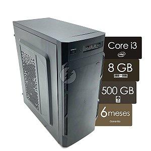 Computador Intel i3 8GB + 500GB HD - NOVO