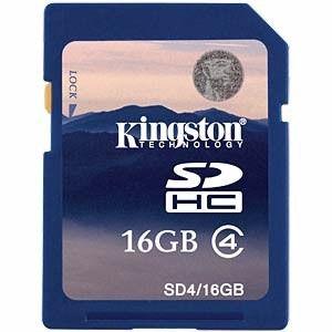 Cartão Memória Kingston - 16 Gb Sdhc || Sd4/16gb
