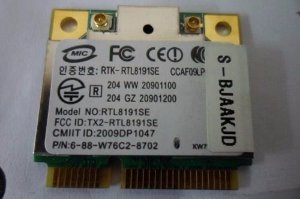 Placa Rede Wifi Realtek Wireless Rtl8191se Mini Pci