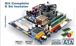 Kit Placa Mãe Gigabyte Core 2 Duo E8400 3.0ghz + 4gb Ddr2