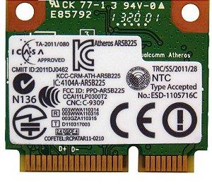 Placa Wireless Wifi Notebook  Ar5b225  Ic:4104a-ar5b225