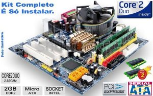 Kit Lga 775 Completo: Core 2 Duo E8400+ 4g + Cooler