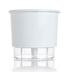 Vaso autoirrigável Raiz PEQUENO N02 12 cm X 11 cm - Branco