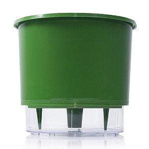 Vaso Autoirrigável Raiz PEQUENO N02 12 cm X 11 cm - Verde Escuro