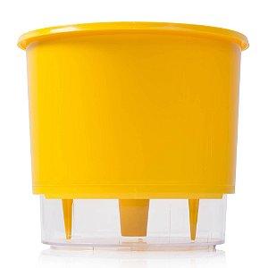 Vaso Autoirrigável Raiz PEQUENO N02 12 cm X 11 cm - Amarelo