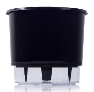 Vaso Autoirrigável Raiz PEQUENO N02 12 cm X 11 cm - Preto
