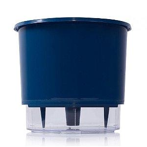 Vaso Autoirrigável Raiz PEQUENO N02 12 cm X 11 cm - Azul Escuro